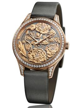 萧邦L.U.C系列131944-5002 Esprit de Fleurier Peony牡丹花工艺雕刻女表