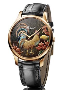 萧邦L.U.C系列农历鸡年限量莳绘腕表161902-5064