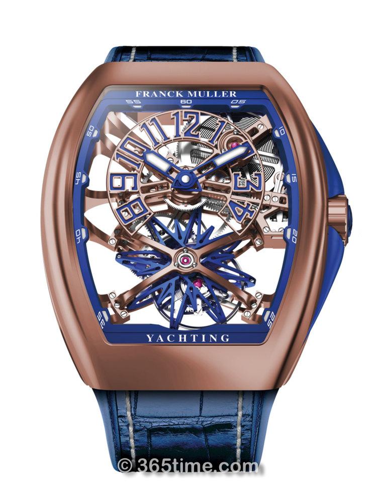 法穆兰Vanguard 系列Yachting™ Gravity Skeleton玫瑰金腕表V45 T GR YACHT