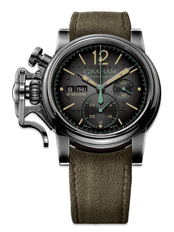 格林汉姆CHRONOFIGHTER系列2CVAV.B17A航空计时腕表