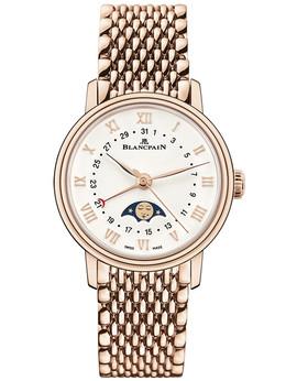 宝珀Villeret系列全历月相腕表6106-3642-MMB