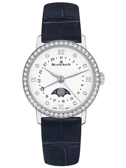 宝珀Villeret系列全历月相腕表6106-4628-55A