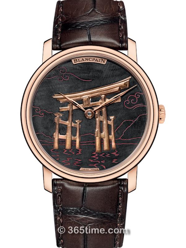 宝珀Villeret经典系列金雕腕表6612-3621-55B