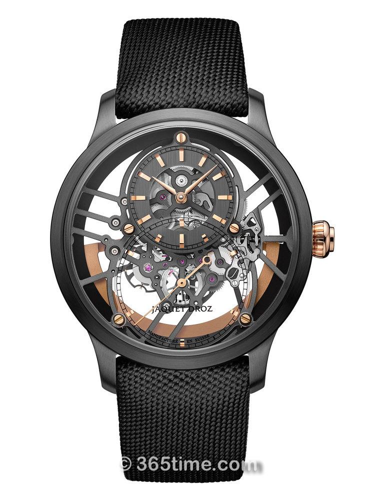 雅克德罗大秒针运动系列大秒针镂空陶瓷One腕表  J003525540