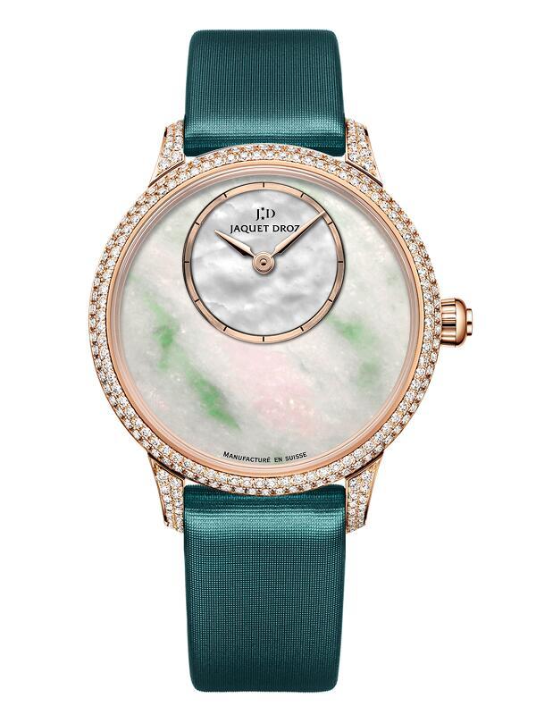 雅克德罗Elegance Paris系列翡翠35毫米时分小针盘J005003573腕表
