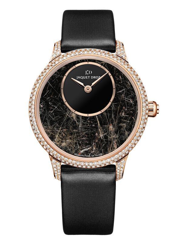 雅克德罗Elegance Paris系列金丝发晶35毫米时分小针盘J005003579腕表