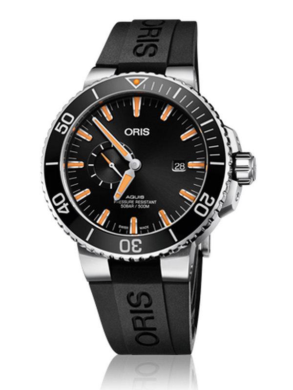 豪利时潜水系列01 743 7733 4159-07 4 24 64EB Aquis小秒针日历腕表
