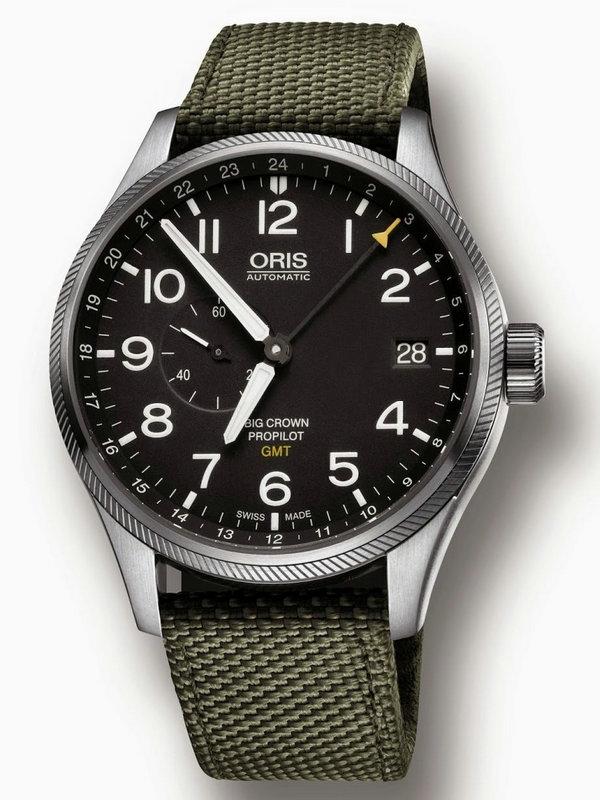 豪利时航空系列GMT小秒针腕表01 748 7710 4164-07 5 22 14FC