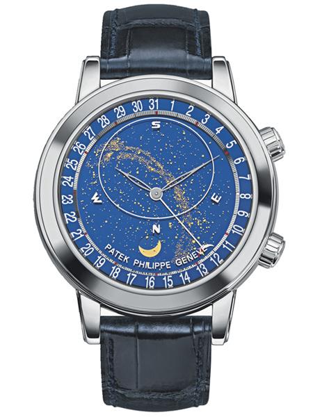 百达翡丽超级复杂功能计时系列星空(Celestial)腕表6102P-001