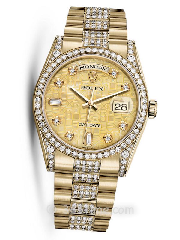 Rolex劳力士星期日历型36男士自动机械手表118388-0060