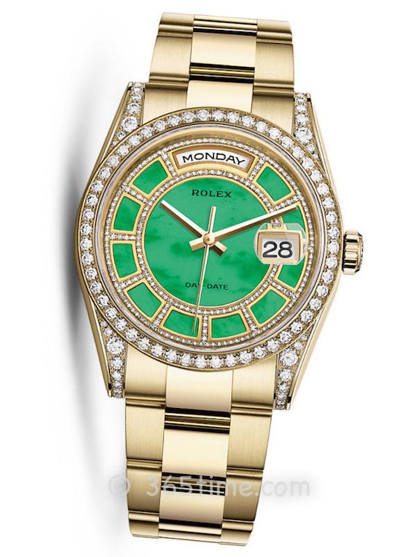 Rolex劳力士星期日历型36男士自动机械手表118388-0148