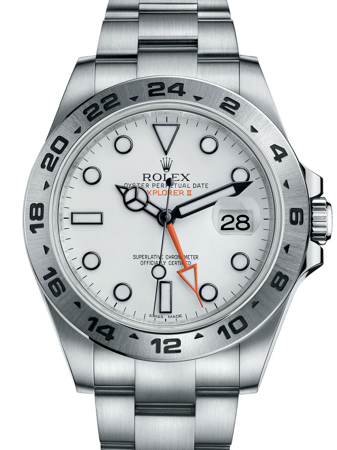 劳力士探险家型II42精钢白面男表216570-0001