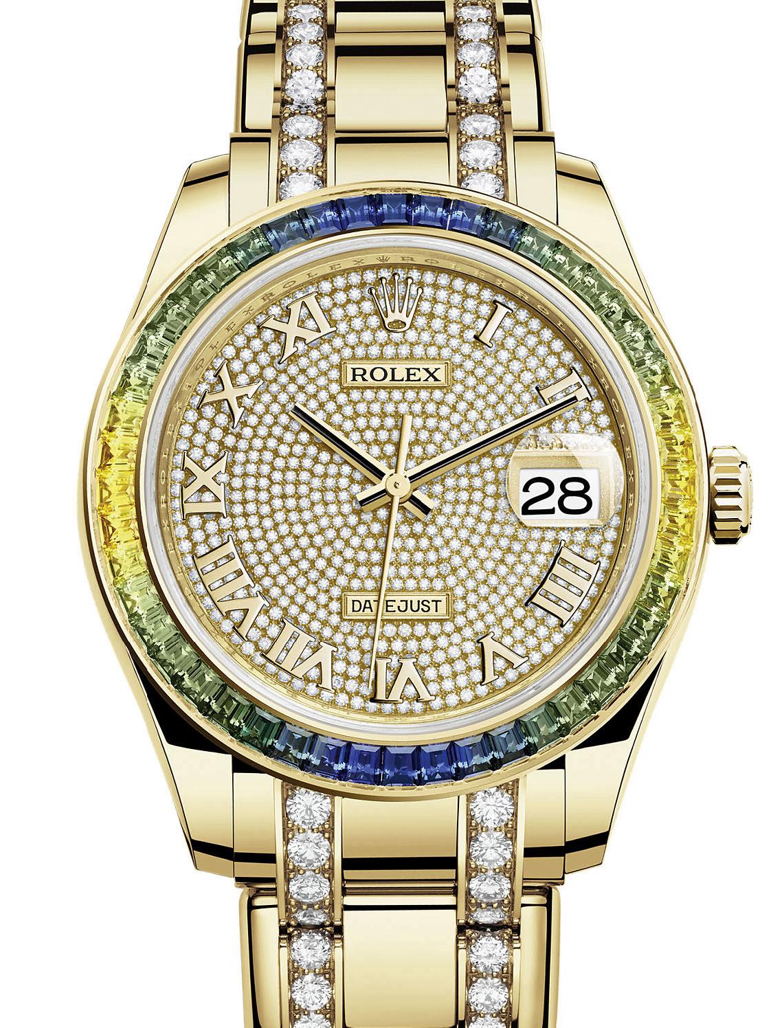 劳力士珍珠淑女型39黄金钻圈钻面女表86348SABLV-0004