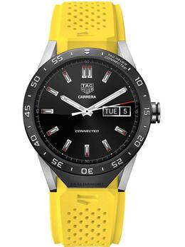 泰格豪雅TAG Heuer Connected黄色橡胶表带款智能