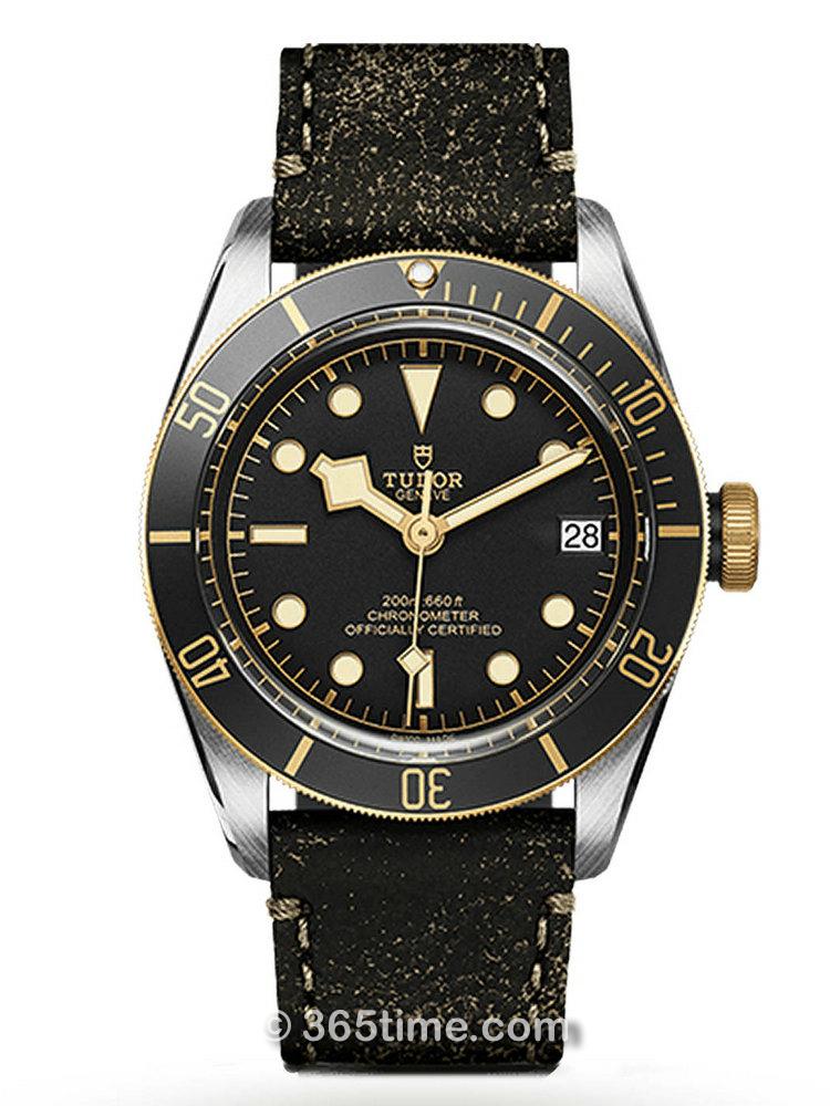 帝舵碧湾黄金钢型41毫米潜水表 M79733N-0001