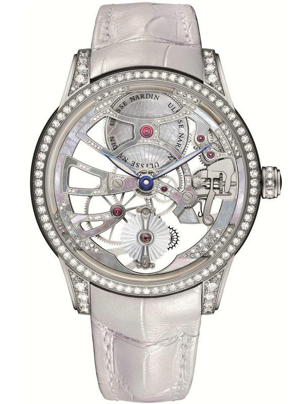雅典珍贵独特机械腕表系列1700-129BC/01镂空珍珠陀飞轮手表