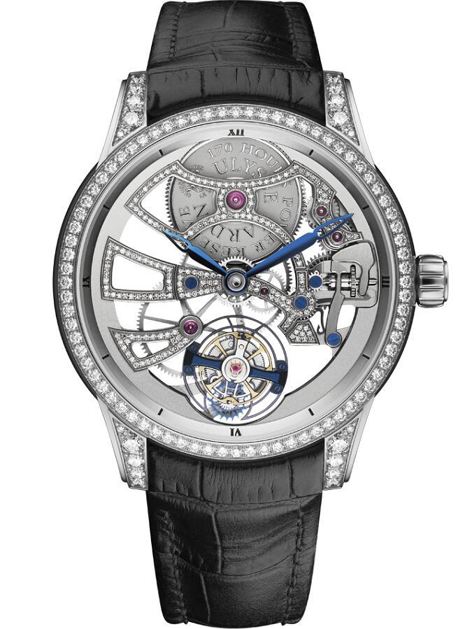 雅典珍贵独特机械腕表系列1700-129BC镂空珍珠陀飞轮腕表