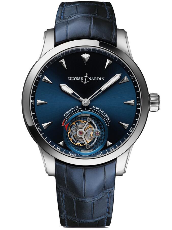雅典珍贵独特机械腕表系列1780-133/93船锚陀飞轮男士腕表