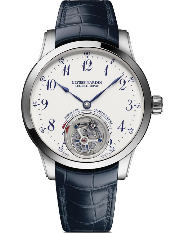 雅典珍贵独特机械腕表系列1780-133/E0-60船锚陀飞轮男士腕表