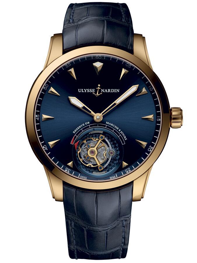 雅典珍贵独特机械腕表系列1782_133_93船锚陀飞轮男士腕表