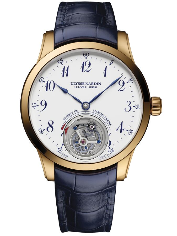 雅典珍贵独特机械腕表系列1782-133/E0-60船锚陀飞轮男士腕表
