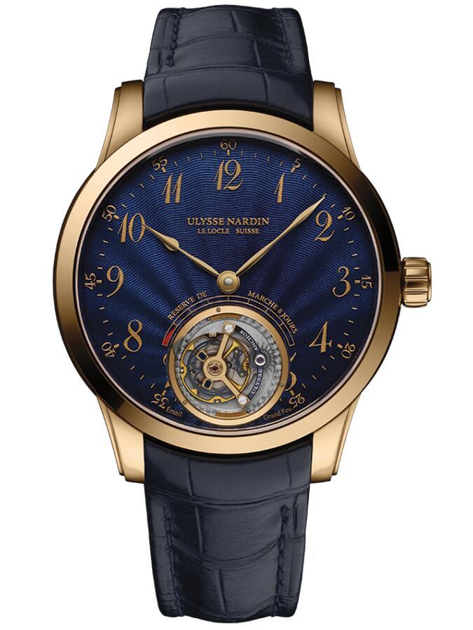 雅典珍贵独特机械腕表系列1786-133/E3船锚陀飞轮男士腕表
