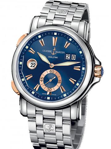 雅典复杂功能机械腕表系列243-55-7/93-BQ双时区
