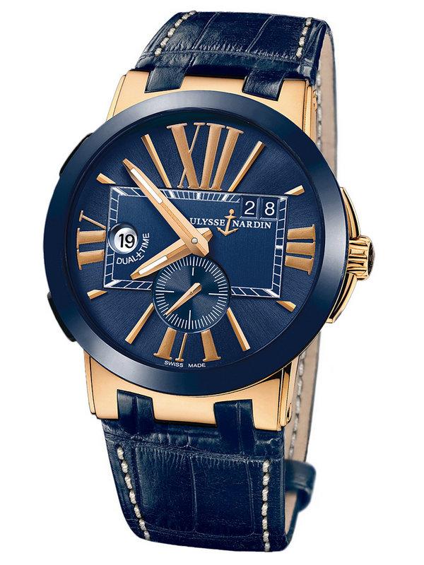 雅典复杂功能机械腕表系列246-00/43 GMT大日历男表