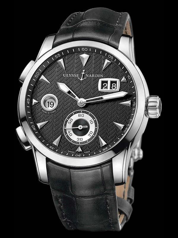 雅典复杂功能机械腕表系列3343-126/912 GMT大日历男表