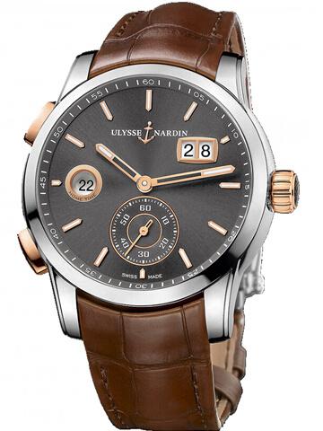 雅典复杂功能机械腕表系列3345-126/BQ双时区
