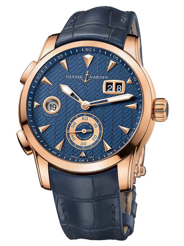 雅典复杂功能机械腕表系列3346-126LE/93 GMT大日历男表