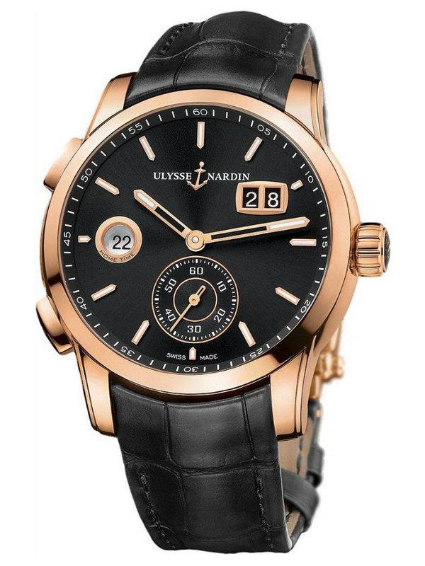 雅典复杂功能机械腕表系列3346-126/92 GMT大日历男表