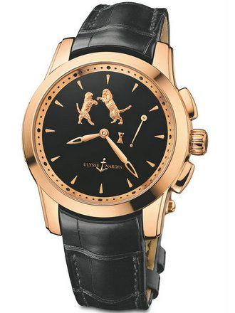 雅典珍贵独特机械腕表系列6106-130/E2-TIGER自鸣单问报时