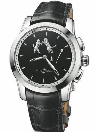 雅典珍贵独特机械腕表系列6109-130/E2-TIGER单问报时
