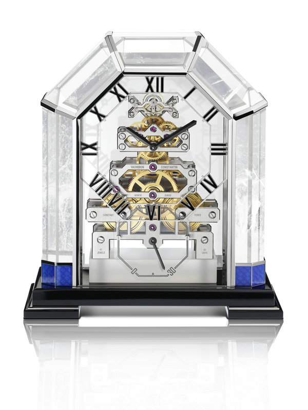 江诗丹顿Métiers d'Art艺术大师系列99900/001-B034水晶座钟