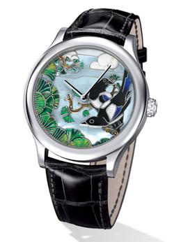 梵克雅宝非凡表盘腕表系列VCARO30B00午夜皇宫幸运喜鹊男士