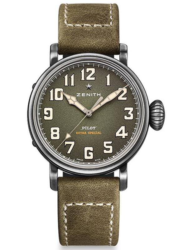真力时飞行员系列复古精钢腕表11.1943.679/63.C800