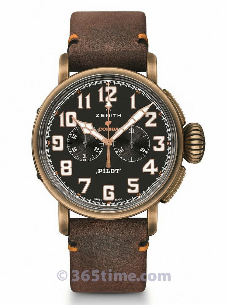 真力时飞行员系列 TYPE 20 COHIBA马杜罗 5号特别版计时腕表29.2432.4069/27.C794
