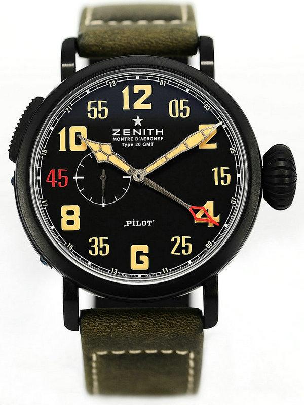 真力时飞行员系列GMT_1903三寶特别版男士